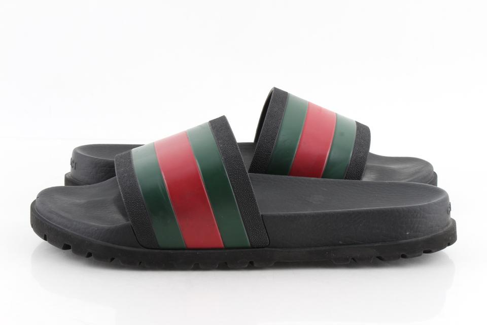2887984ccc2d Gucci Black Mens  pursuit Treck  Slide Sandals Shoes Image 11.  123456789101112