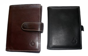Franklin Covey Two Vintage Leather Billfold Slim Compact Wallets USA