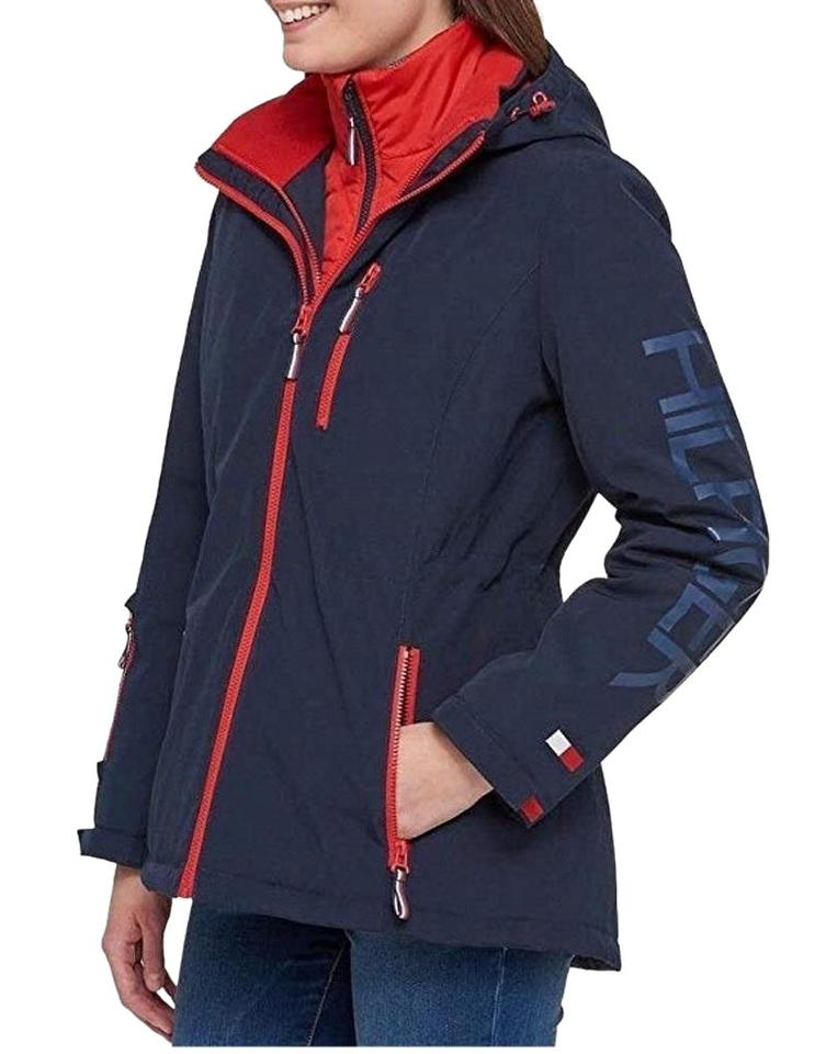 d850ae2e98 Tommy Hilfiger Navy Blue Women All Weather 3 In 1 Waterproof Jacket Coat  Size 8 (M) 37% off retail