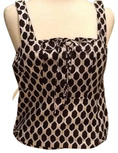 Diane von Furstenberg Top Black with white