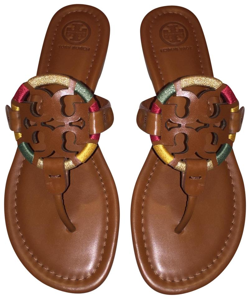 f9cf9701f Tory Burch Vintage Vachetta Embroidered Miller Sandals Size US 8 ...