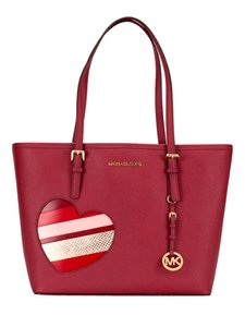 Michael Kors Candy Reversible Includes Pouch Red Tote in multicolor