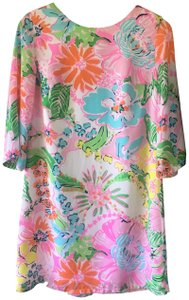 Lilly Pulitzer for Target short dress White/Multicolor Swing Nosey Posie Print Floral on Tradesy