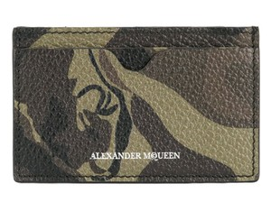 Alexander McQueen Camouflage Leather Card Case