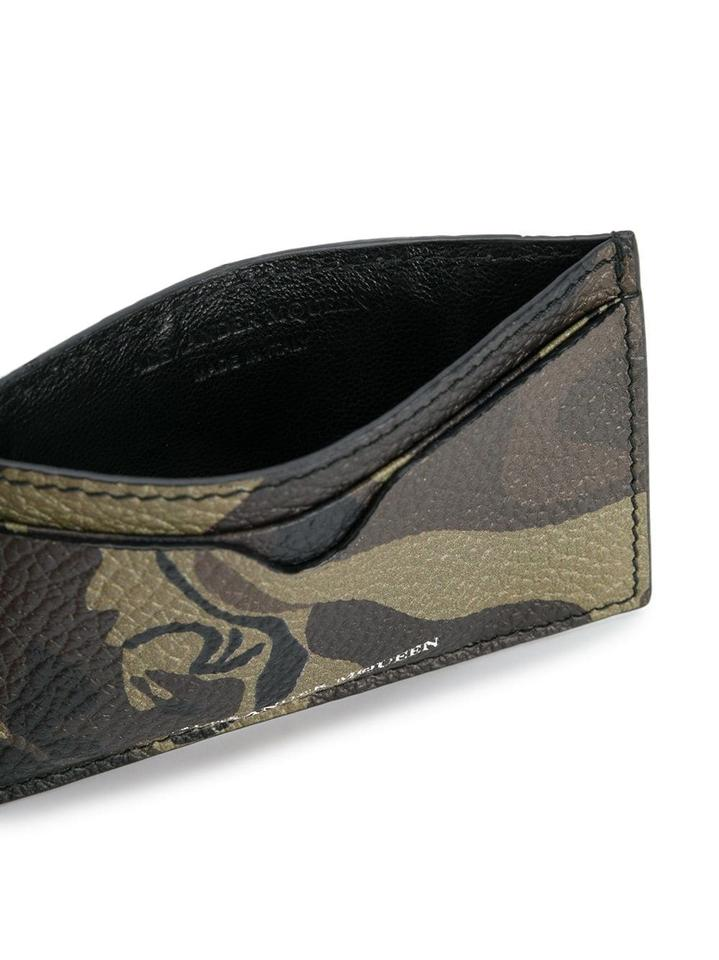 adde5861fad7e Alexander McQueen Khaki Brown Black Camouflage Leather Card Case Wallet -  Tradesy