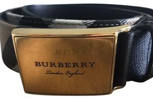 Burberry Brit George House Check Leather Belt