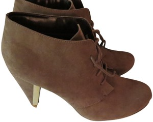 Call It Spring Suede Gold Hardware TAUPE Boots