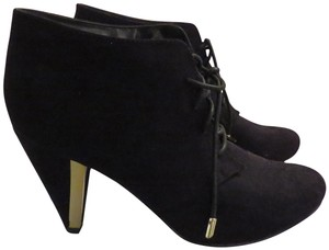 Call It Spring Sude Gold Hardware BLACK Boots