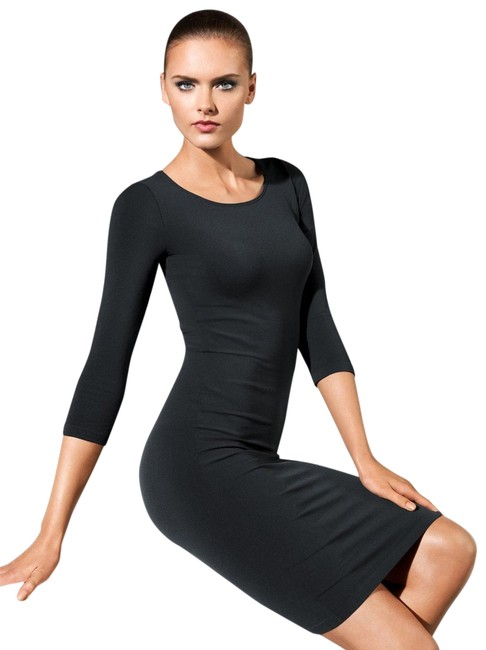 Wolford Black Barcelona Short Night Out Dress Size 12 (L) Wolford Black Barcelona Short Night Out Dress Size 12 (L) Image 1