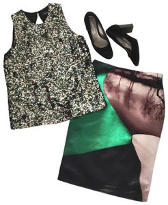 MARY KATRANTZOU Skirt black green