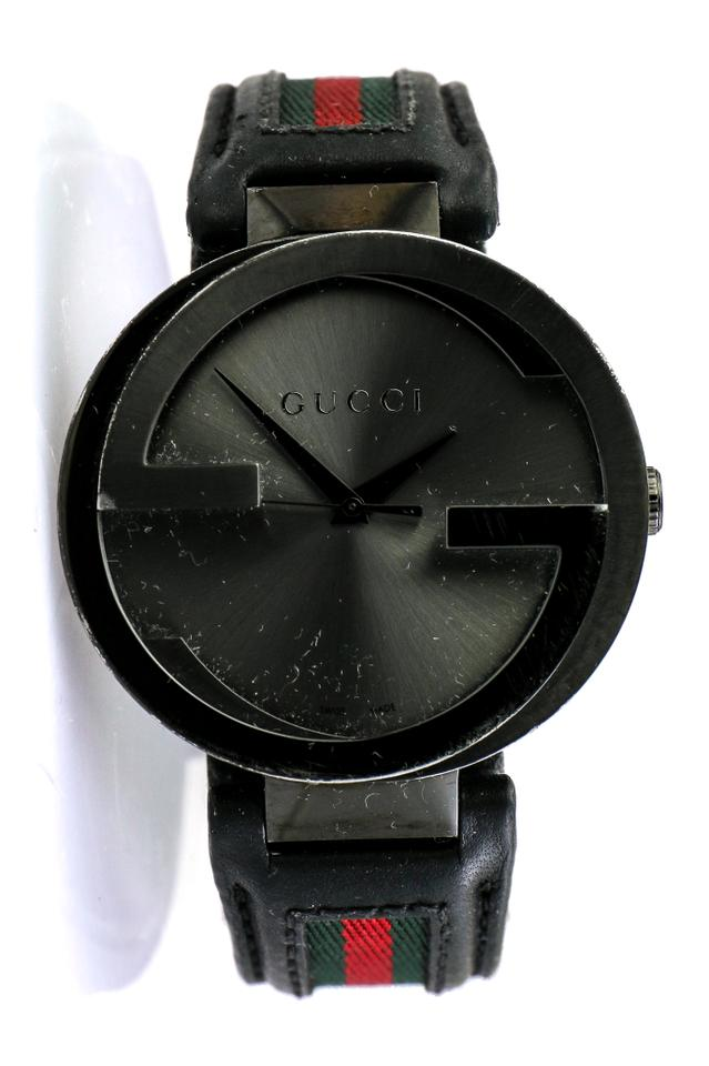 30ca7ea462d Gucci   Black Plated Ion Stainless Steel 133.2 Interlocking G Watch. Item     24276215