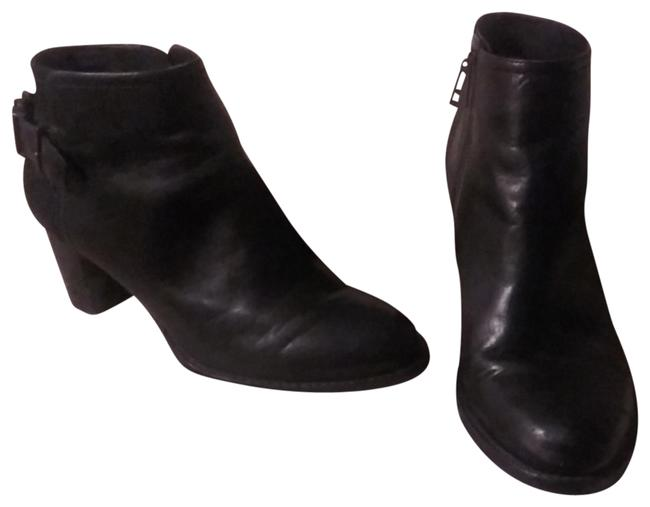 Item - Black Leather Suede Ankle Boots/Booties Size US 9 Regular (M, B)