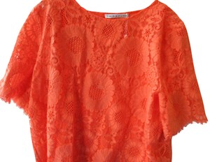 Trina Turk Lacey Tangerine Floral Two Piece Top Coral