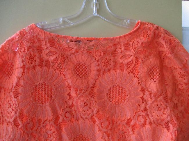 Trina Turk Lacey Tangerine Floral Two Piece Top Coral Image 1