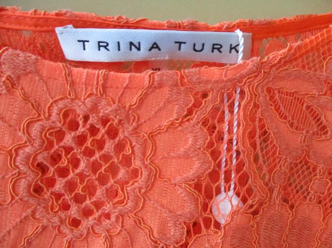 Trina Turk Lacey Tangerine Floral Two Piece Top Coral Image 2