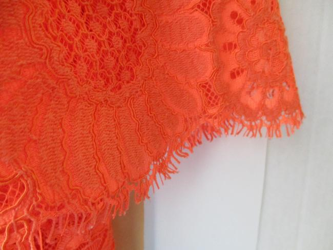 Trina Turk Lacey Tangerine Floral Two Piece Top Coral Image 5