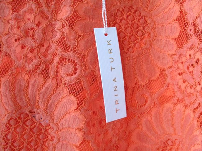 Trina Turk Lacey Tangerine Floral Two Piece Top Coral Image 9