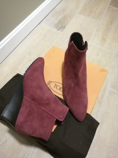 Tod's Burgundy Boots Image 5
