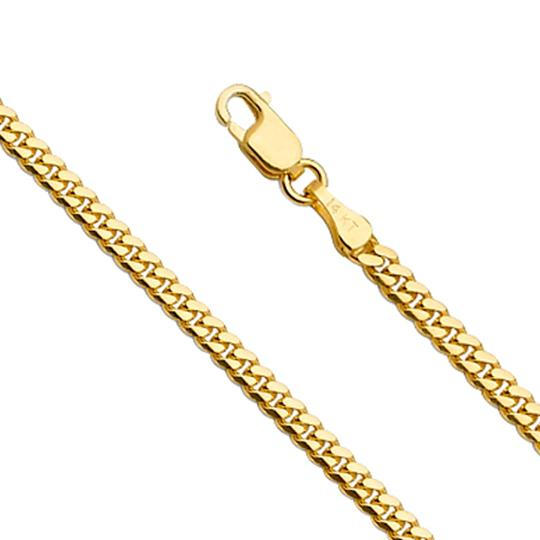 Top Gold & Diamond Jewelry 14k Yellow Gold Solid Men's 2.6mm Miami Cuban Link Chain - 22