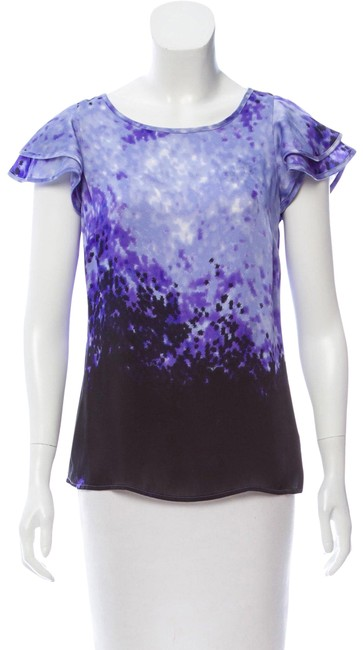 Preload https://img-static.tradesy.com/item/24276289/michael-kors-purple-printed-short-sleeve-tee-blouse-size-2-xs-0-1-650-650.jpg