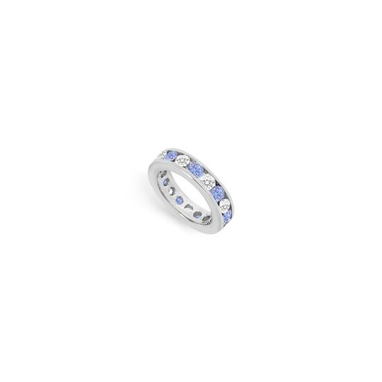 Preload https://img-static.tradesy.com/item/24276316/blue-created-tanzanite-and-cubic-zirconia-channel-set-eternity-band-14k-whi-ring-0-0-540-540.jpg