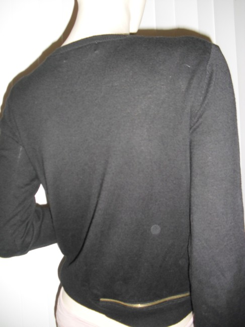 Michael Kors Nylon Cotton Knit Signatures Zippers Ribbed Hip Sweater Image 1