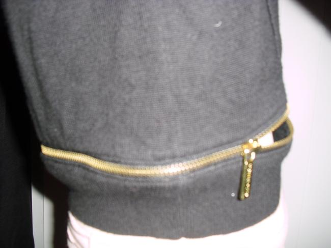 Michael Kors Nylon Cotton Knit Signatures Zippers Ribbed Hip Sweater Image 3