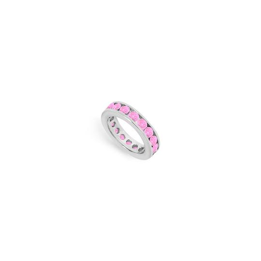 Preload https://img-static.tradesy.com/item/24276364/pink-created-sapphire-eternity-band-14k-white-gold-300-ct-tgw-ring-0-0-540-540.jpg