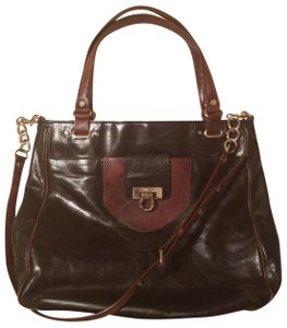 Elaine Turner Satchel in Black/ brown