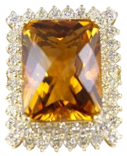 Preload https://img-static.tradesy.com/item/24276454/orange-and-gold-huge-radiant-cut-citrine-lady-s-wdiamond-halo-14k-yg-2323ct-ring-0-1-540-540.jpg
