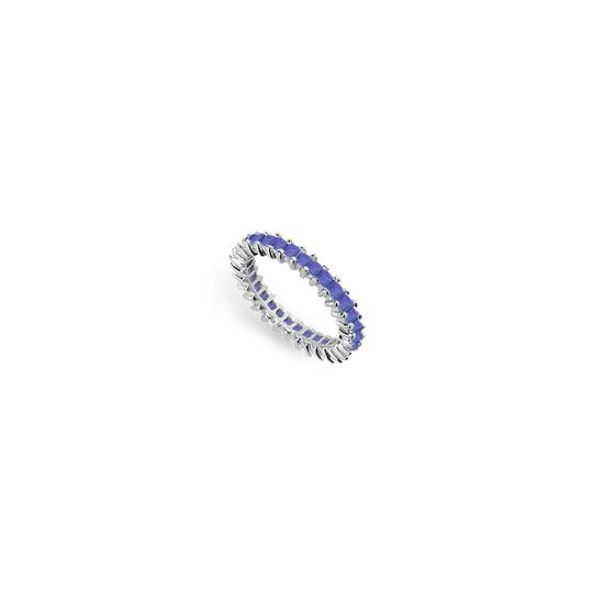 Preload https://img-static.tradesy.com/item/24276465/blue-created-sapphire-eternity-band-14k-white-gold-200-ct-tgw-ring-0-0-540-540.jpg