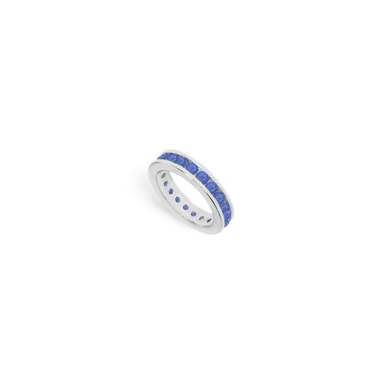 Preload https://img-static.tradesy.com/item/24276473/blue-created-sapphire-eternity-band-14k-white-gold-200-ct-tgw-ring-0-0-540-540.jpg