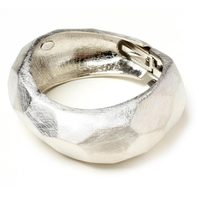Item - Brushed Silver Hinged Chunky Cuff New Bracelet