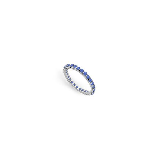 Preload https://img-static.tradesy.com/item/24276518/blue-created-sapphire-eternity-band-14k-white-gold-100-ct-tgw-ring-0-0-540-540.jpg