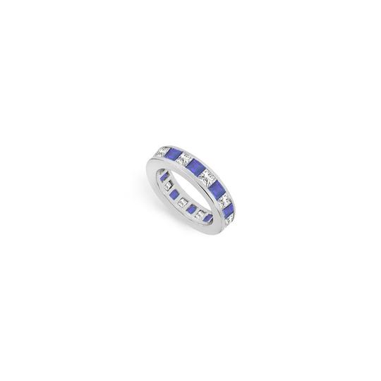Preload https://img-static.tradesy.com/item/24276522/blue-cubic-zirconia-and-created-sapphire-eternity-band-14k-white-gold-ring-0-0-540-540.jpg