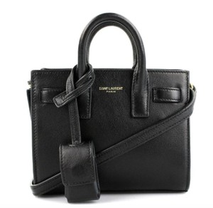 Saint Laurent Toy Sac De Jour Satchel in Black