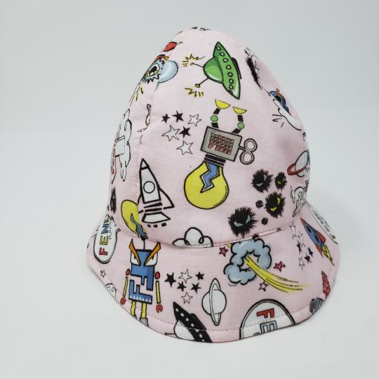 Fendi Multicolor Girls  Pink Monster Space Bucket Hat - Tradesy eed8582b651