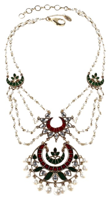 Item - Pearl Fabulous Vintage Indian Vibe But Edgy Contemporary Bib Necklace