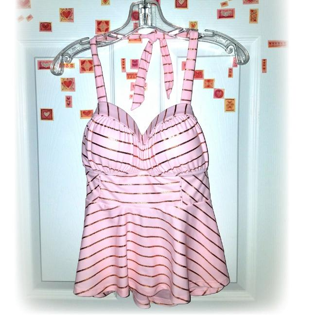 Betsey Johnson Shimmer Stripes Tankini RARE!!! Image 4
