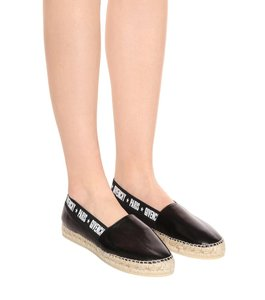 Givenchy Capri Logo Monogram Espadrille Embroidered Black Flats