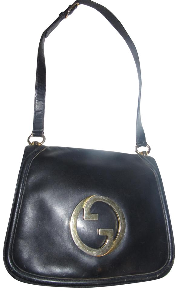 c3670941d160 Gucci Blondie Style Saddle/Shoulder Bold Gold Gg Center Multiple  Compartment Mint Vintage Shoulder Bag ...
