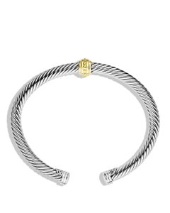David Yurman 14K yellow gold sterling silver David Yurman station cuff