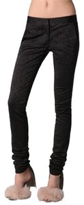 ALEXANDER WANG Black Drainpipe Metallic Skinny Pants Black