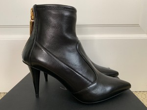 Giuseppe Zanotti Pointed Toe Leather Black Boots