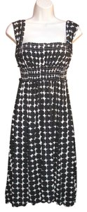 Studio M short dress Black Cream on Tradesy