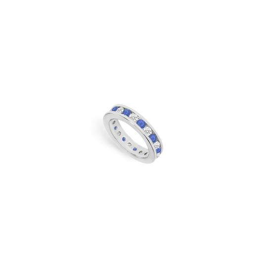 Preload https://img-static.tradesy.com/item/24277025/blue-cubic-zirconia-and-created-sapphire-eternity-band-14k-white-gold-ring-0-0-540-540.jpg