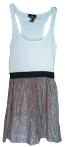 Aqua short dress white/copper on Tradesy