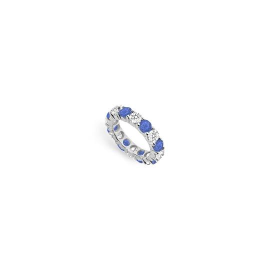 Preload https://img-static.tradesy.com/item/24277034/blue-cubic-zirconia-and-created-sapphire-eternity-band14k-white-gold-500-c-ring-0-0-540-540.jpg