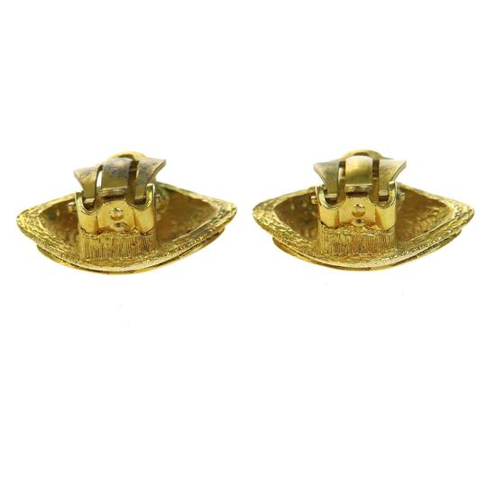 Chanel CHANEL CC Logos Earrings Clip-On Gold-Tone France Accessory Image 1