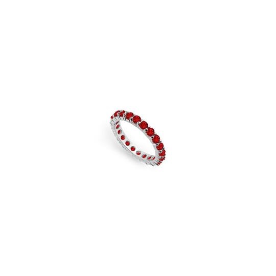 Preload https://img-static.tradesy.com/item/24277125/red-created-ruby-eternity-band-14k-white-gold-200-ct-tgw-ring-0-0-540-540.jpg